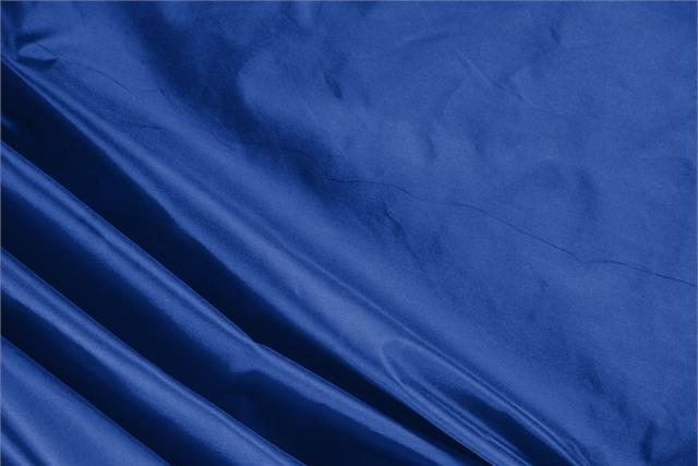 Buy online our clothing and fashion fabric 'Royale' Blue Silk Taffeta, Made in Italy. - new tess