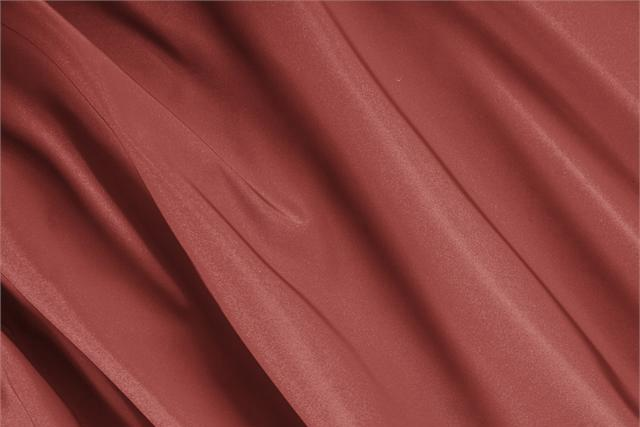 Buy online our clothing and fashion fabric 'Mattone' Brown Silk Radzemire, Made in Italy. - new tess