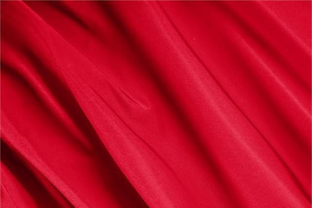 Buy online our clothing and fashion fabric 'Fuoco' Red Silk Radzemire, Made in Italy. - new tess