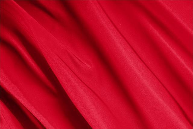 Fuoco Red Silk Radzemire fabric for dressmaking