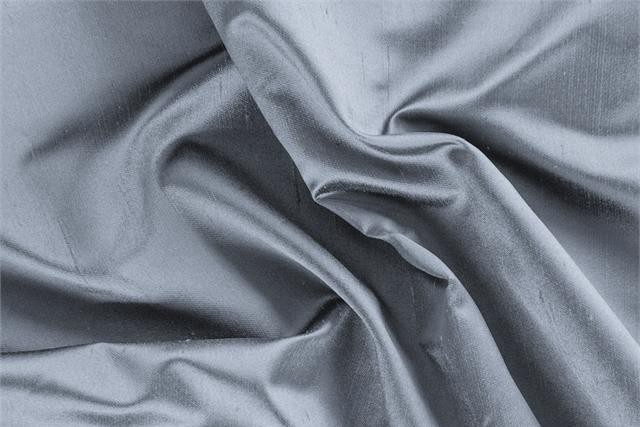 Buy online our clothing and fashion fabric 'Nuvola' Blue Silk Shantung Satin, Made in Italy. - new tess