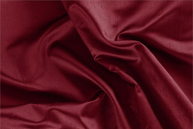 Buy online our clothing and fashion fabric 'Rubino' Red Silk Shantung Satin, Made in Italy. - new tess