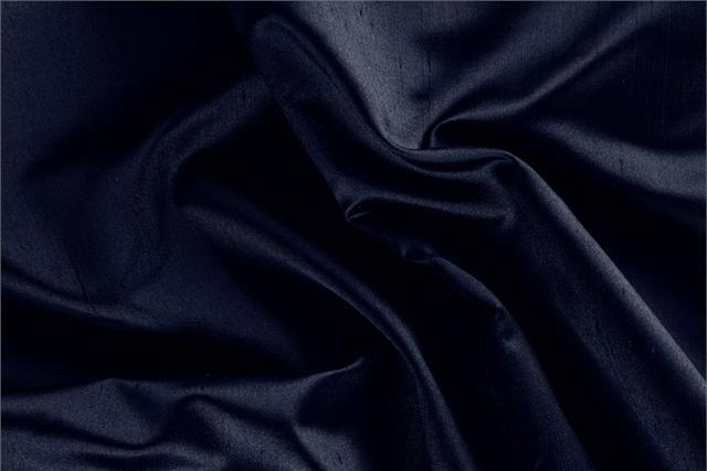 Buy online our clothing and fashion fabric Shantung Satin Blue Notte, Made in Italy. - new tess