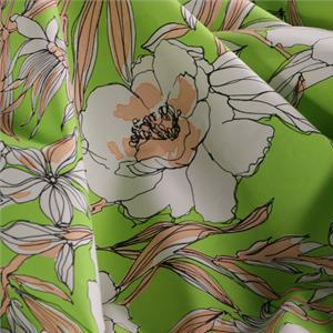 Green, Multicolor Cotton Cotton canvas Flowers Print fabric for Dress, Pants, Shirt, Skirt.