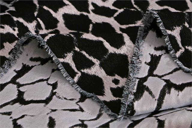 Black, Blue, White Pelle 000801 Polyester Fabric