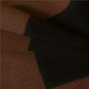 Black, Brown Mixed, Wool Geometric Coat fabric for Coat.