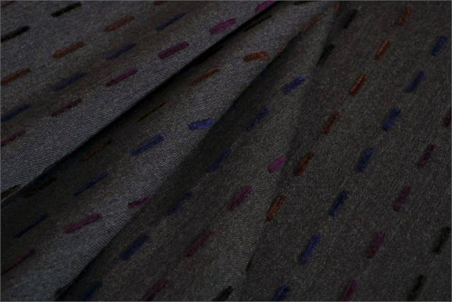 Gray, Multicolor Impuntura Ciniglia P02-01 Coating Fabric