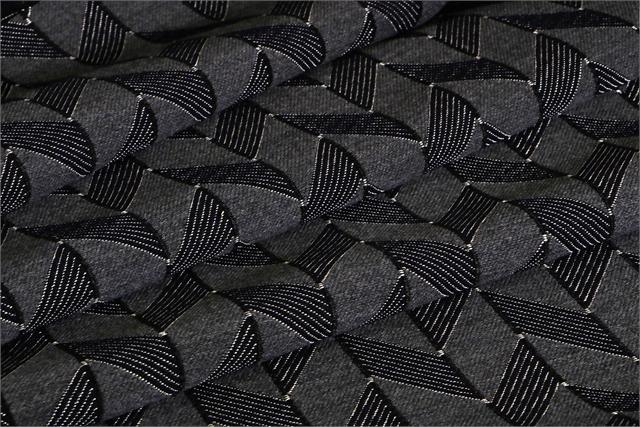Blue, Gray Chevronn P02-01 Woven Fabric