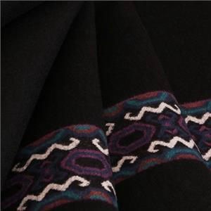 Black Mixed, Wool Ethnic Coat fabric for Coat.