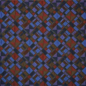 Blue, Multicolor, Purple, Red Geometrico Matelasse' 000800 Woven Fabric